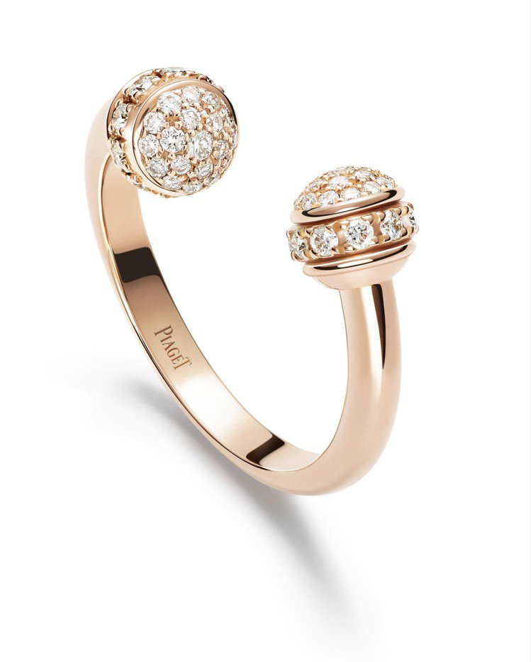 Possession系列18K玫瑰金指環鑲飾58顆美鑽共約0.34克拉,13萬5...