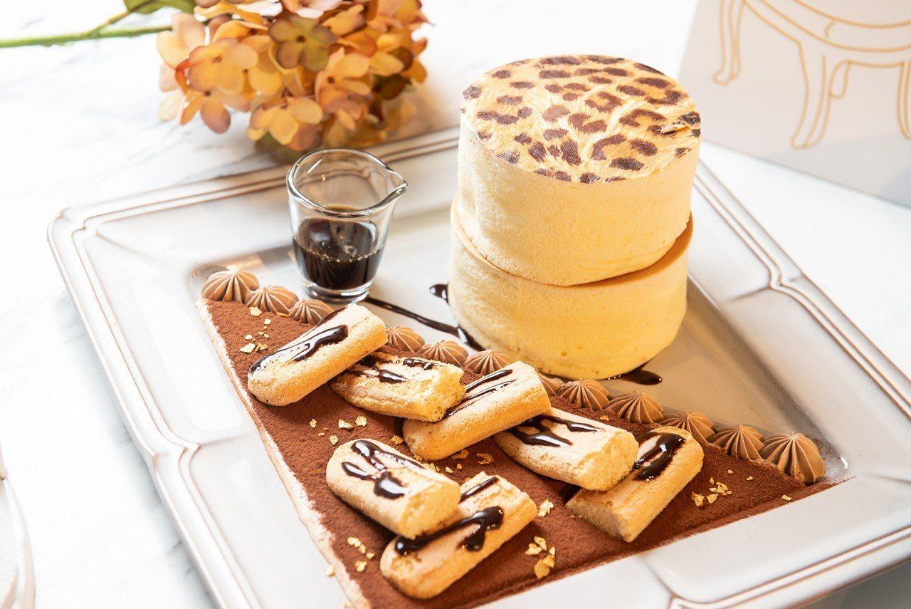 Engolili英格莉莉推出豹紋厚鬆餅。圖/六角國際餐飲提供