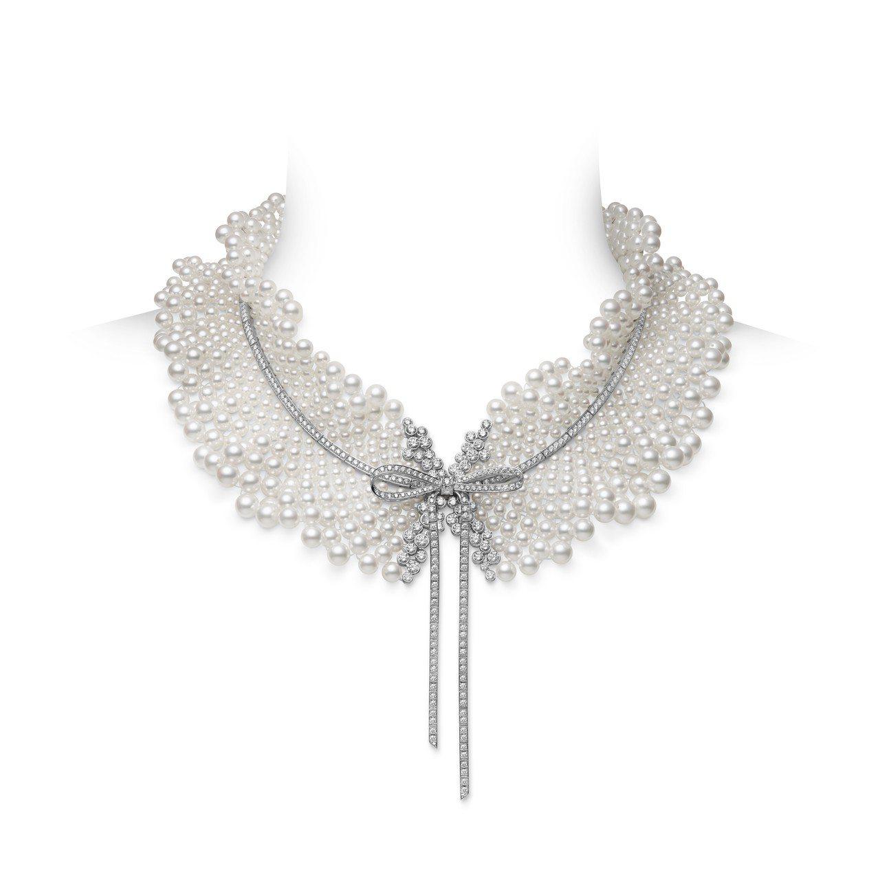 MIKIMOTO Jeux de Rubans頂級珠寶系列日本Akoya珍珠鑽石...