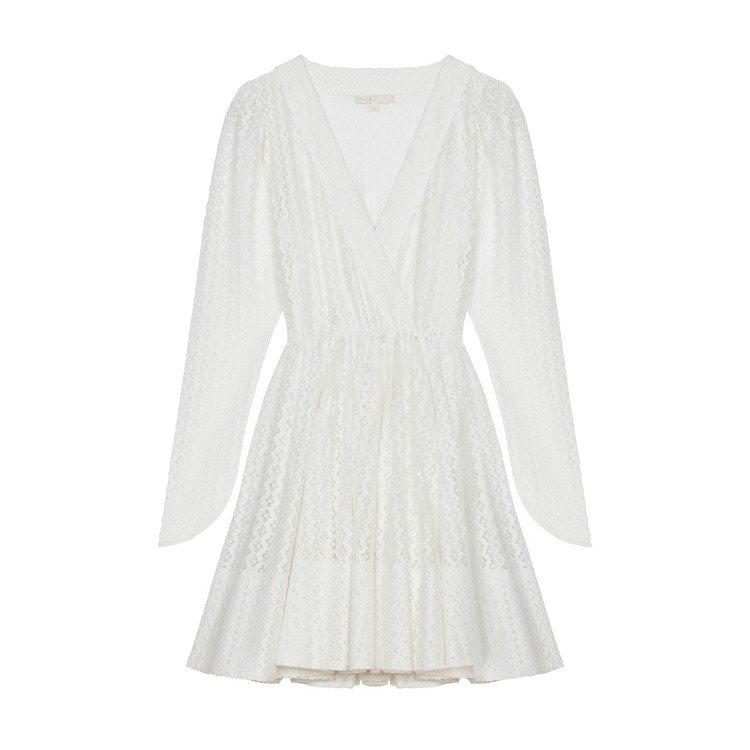 maje白色蕾絲洋裝,售價11,590元。圖/maje提供