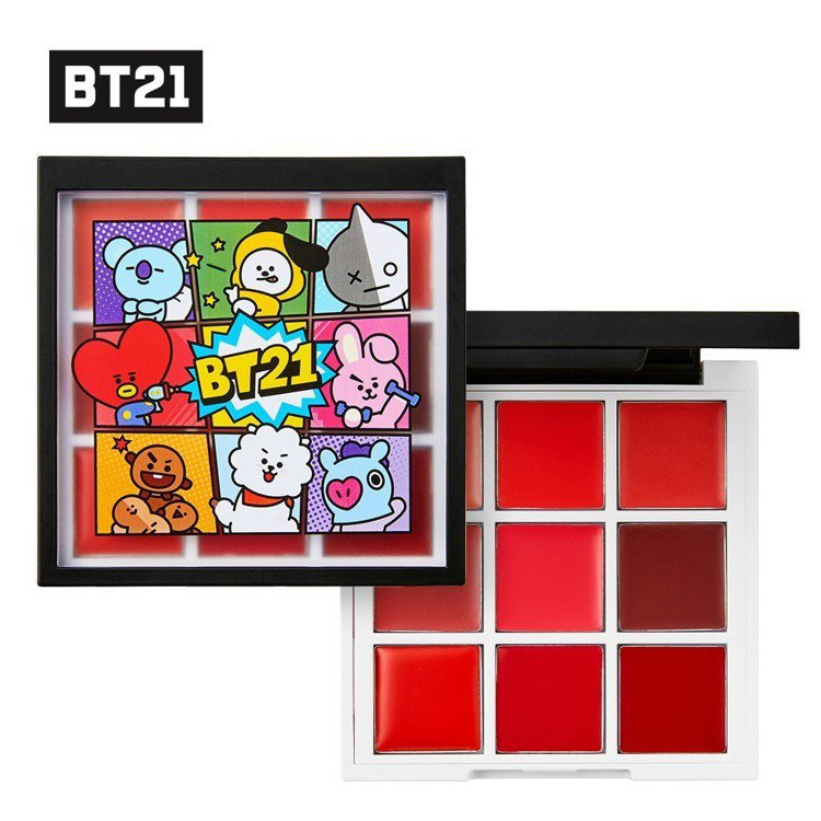 BT21 9宮格唇彩調色盤,市價1,110元,全家便利商店5月8日起集400點加...