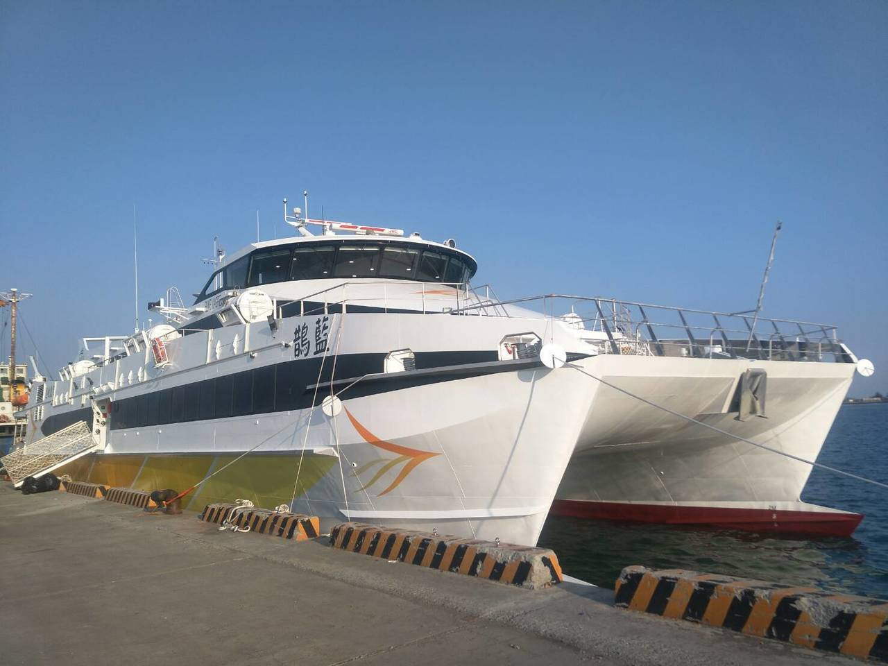 藍鵲通過海試,並將於明日投入台澎航路營運。百麗航運/提供