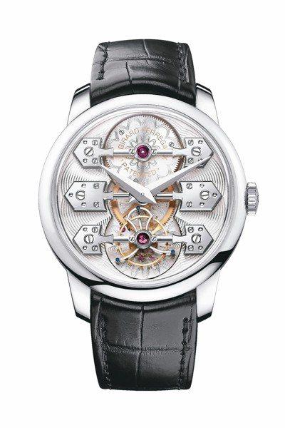 La Esmeralda陀飛輪腕表白金版,售價632萬1,000元。 圖/各業者...