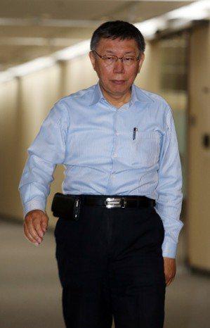 台北市長柯文哲。 記者曾吉松/攝影