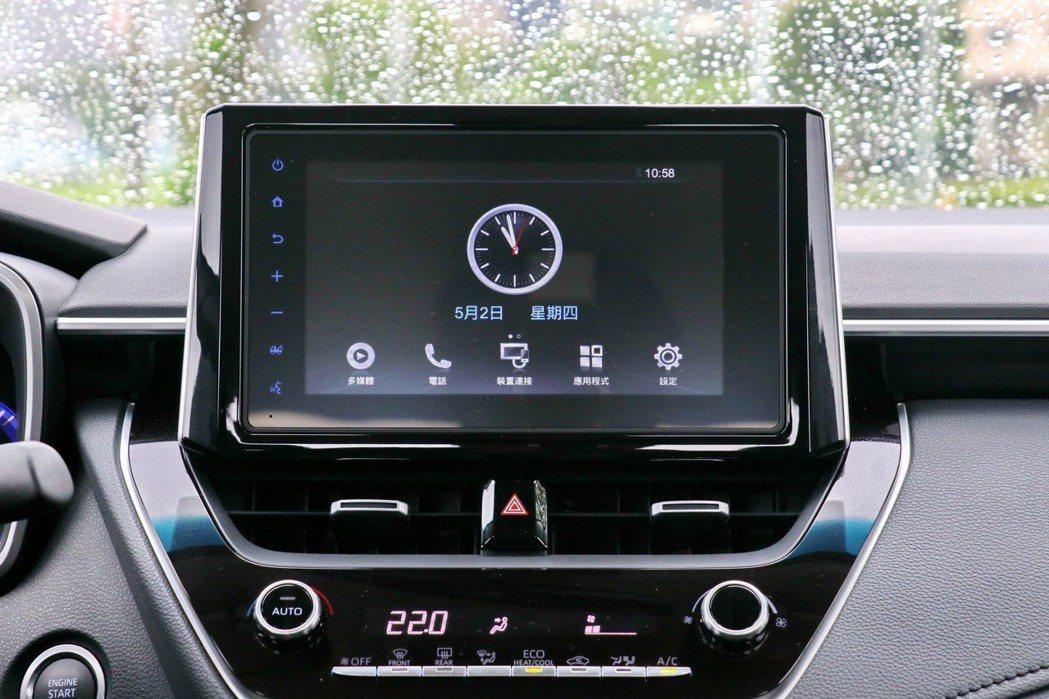 配備8吋WIFI版的「TOYOTA Drive+ Connect智聯車載系統」。...