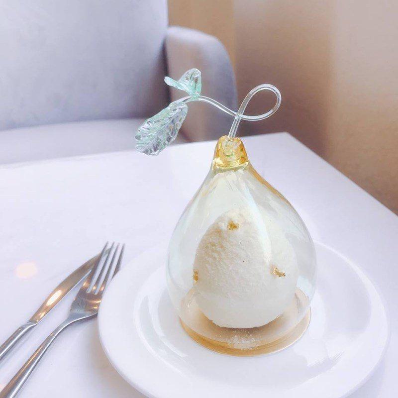 (圖/FB@L.Z. Dessart 無框架甜點) ▲藝術品般的蛋糕「柚」非常誘...