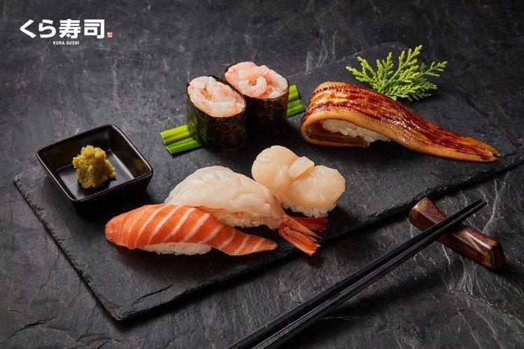 藏壽司推出豪華三鮮、天然鮮甜蝦軍艦、炙烤嚴選星鰻等母親節限定壽司。圖/藏壽司提供