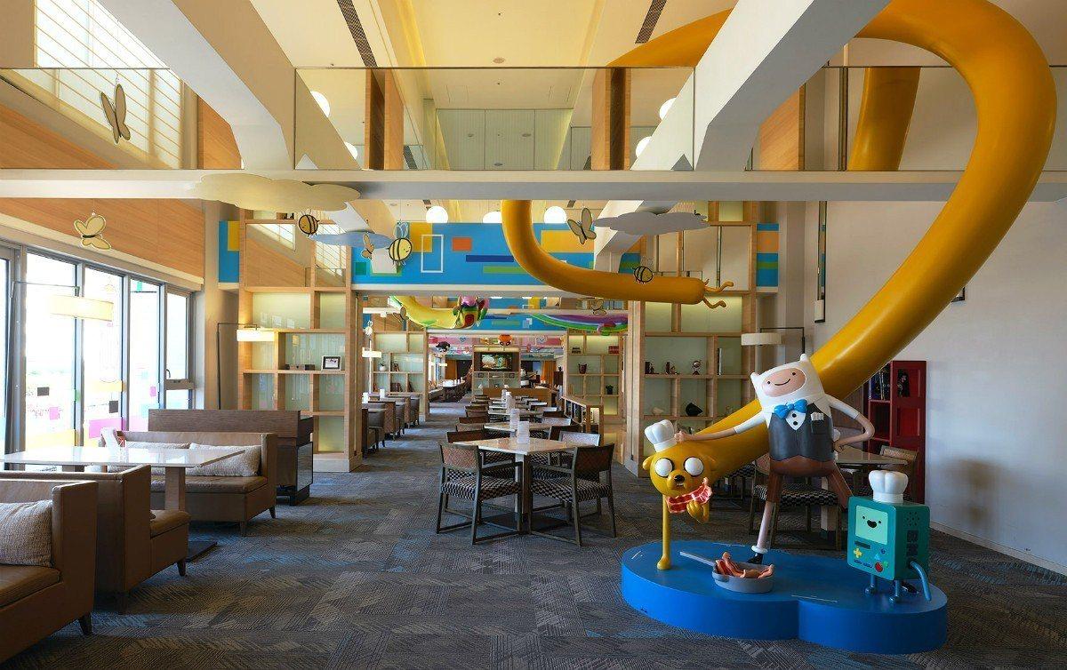 「卡通頻道派對歡樂廚房」與大明星們在晨光下一起享用美味早餐。圖/HOTEL CO...