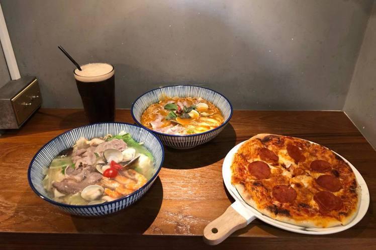到文青咖啡店吃個披薩跟鍋燒麵不會違和。圖/好der提供