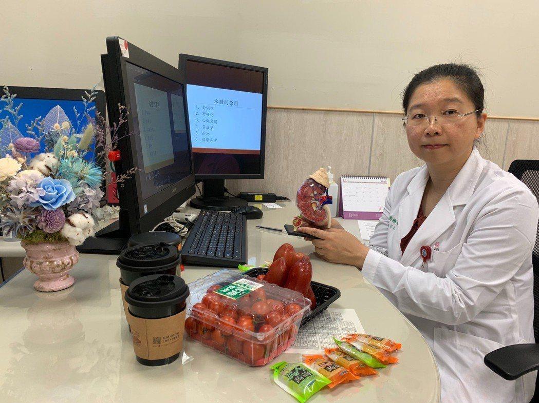 中國醫藥大學新竹附設醫院腎臟科主任楊雅斐說,病患參與治療,調整生活習慣,配合藥物...