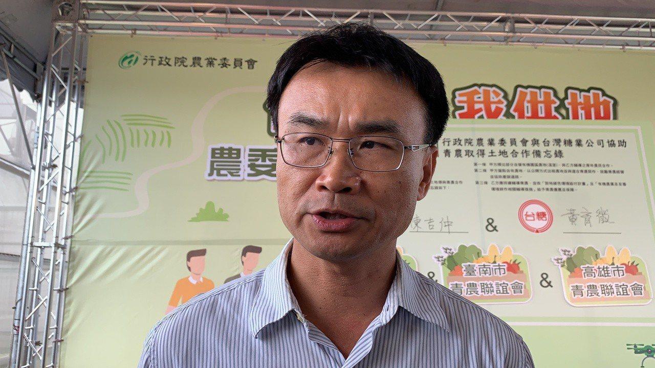 農委會主委陳吉仲談南安黑熊野放爭議。記者吳淑玲/攝影
