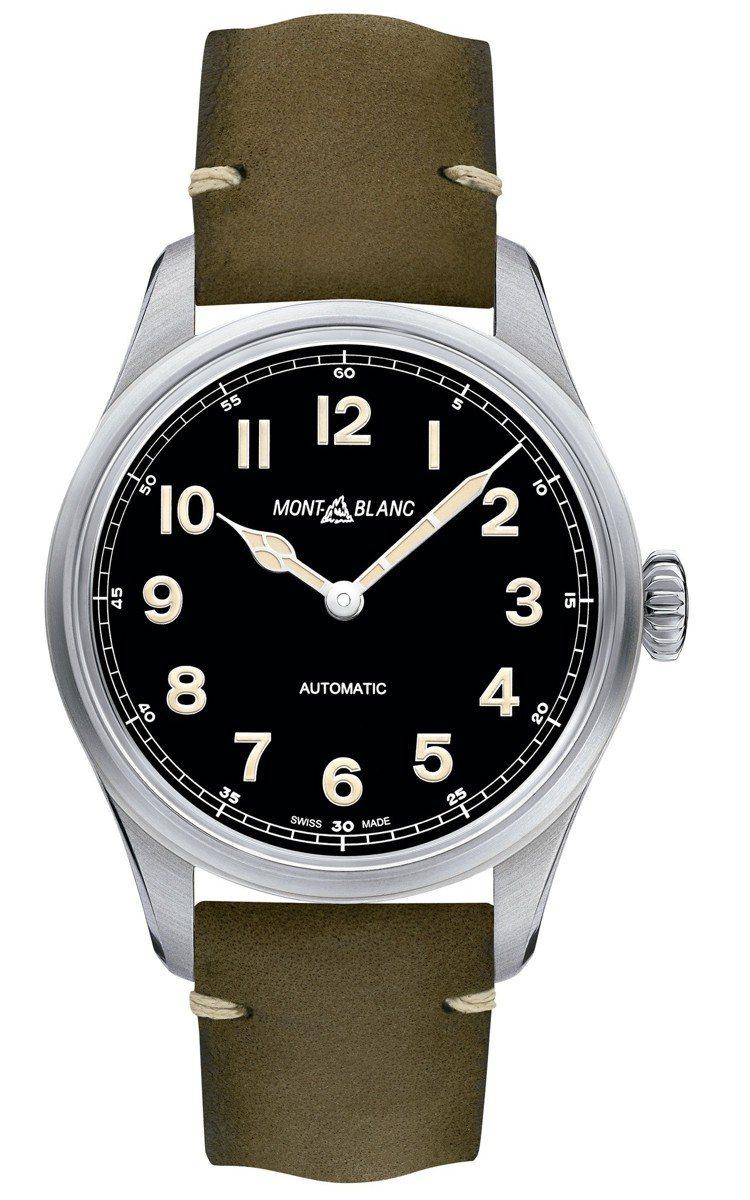 萬寶龍1858系列自動腕表,80,000元。圖/萬寶龍提供