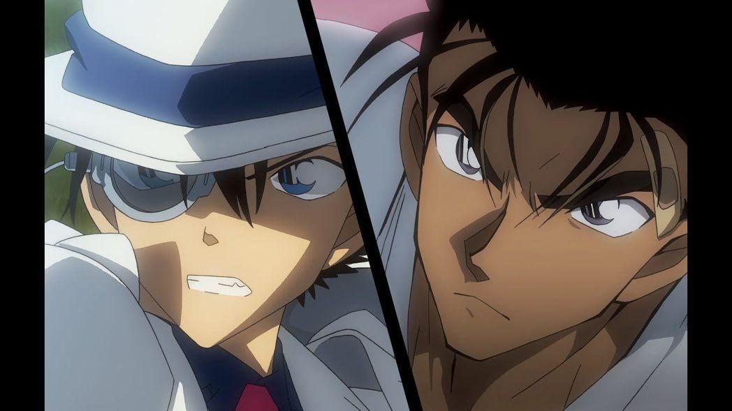 怪盜基德(左)與京極真(右)在《名偵探柯南:紺青之拳》的對決驚心動魄。圖/向洋提