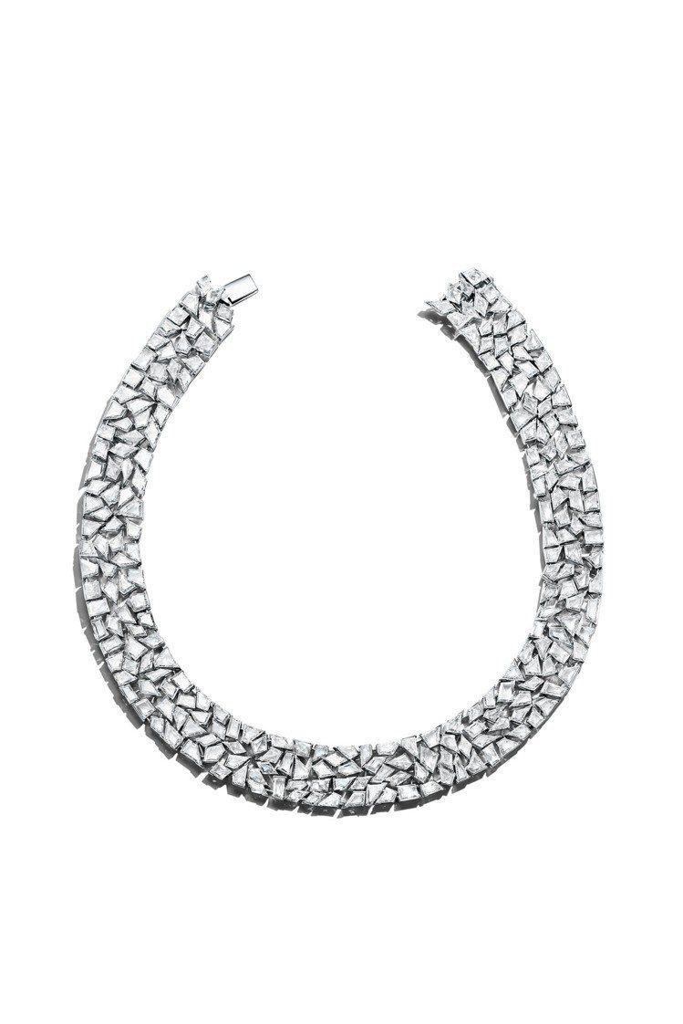 四季之彩高級珠寶系列,鉑金鑲嵌總重逾91克拉訂製切割鑽石項鍊,約4,283萬5,...