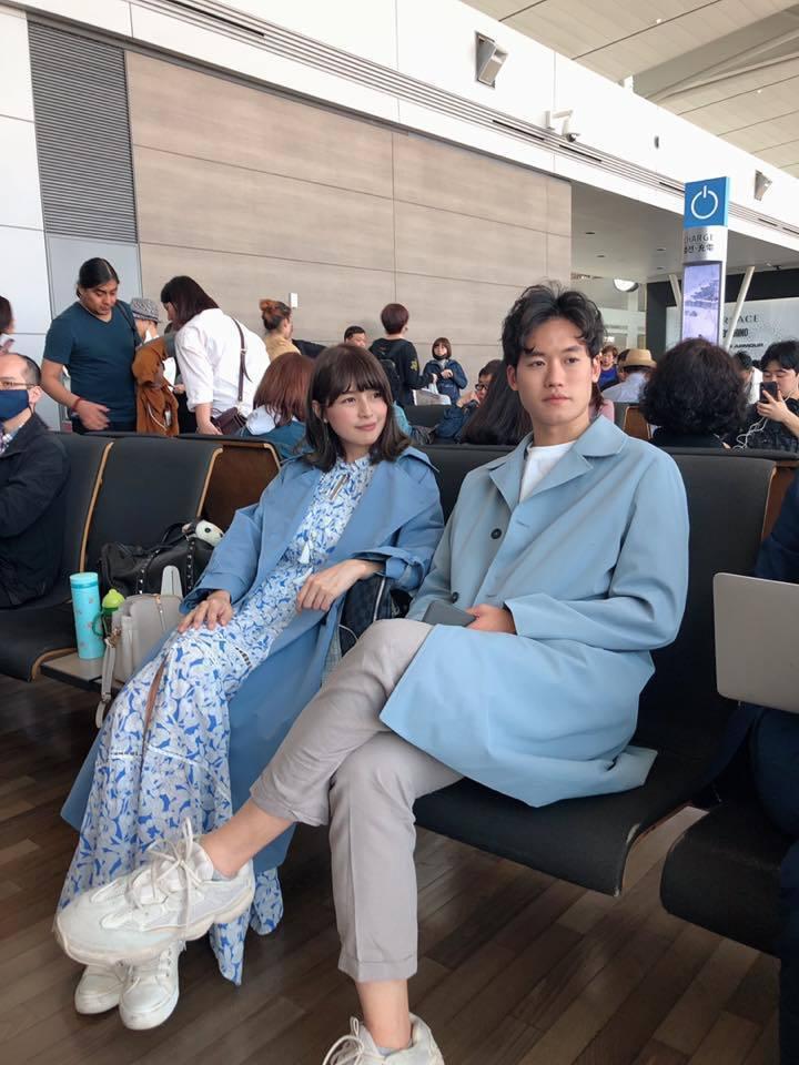 林舒語才坐完月子已經可以趴趴走,和老公一起到韓國玩。圖/多曼尼提供