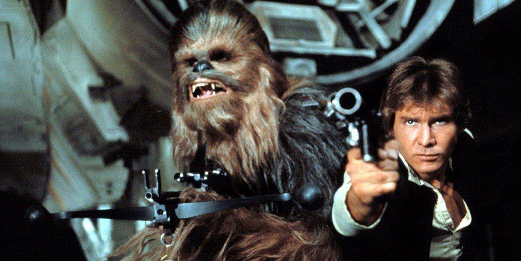 「星際大戰」系列中丘巴卡是韓索羅的最佳搭檔。圖/摘自imdb