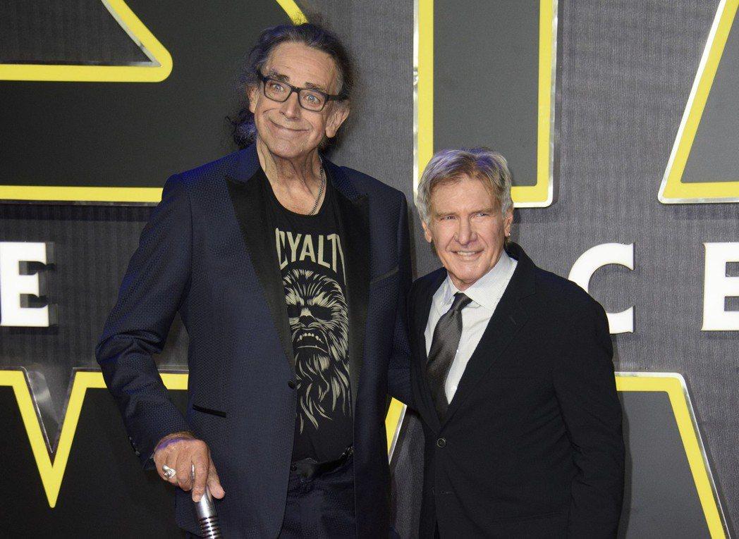 哈里遜福特與彼得梅休4年前還一起出席「Star Wars:原力覺醒」首映會。圖/...