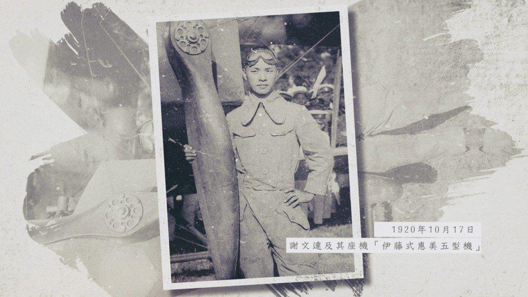 謝文達為台灣首位飛行員。 圖/影想文化藝術基金會提供