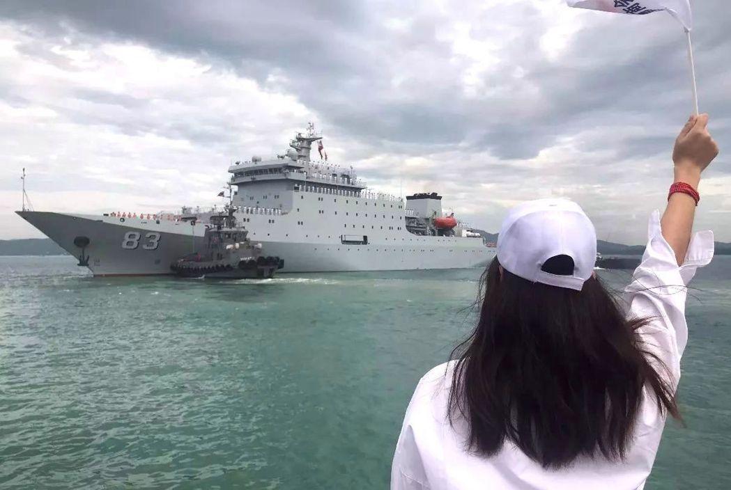 戚繼光號是中共最先進訓練艦。(搜狐新聞)