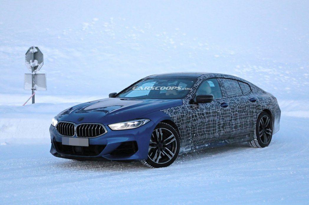 全新BMW 8 Series Gran Coupe測試偽裝照。 摘自Carsco...