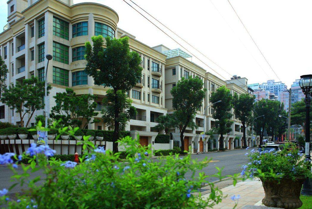 濱湖路別墅區為第一種住宅區,因開發法令管制,可謂高雄最優質地段。圖片提供/德旺建...