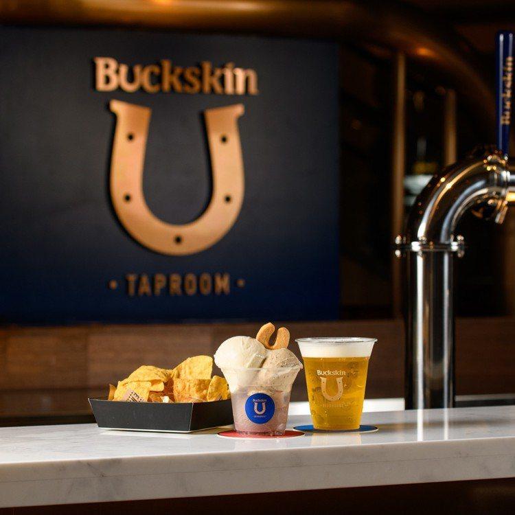 位於台北101的「Buckskin Taproom柏克金啤酒吧」現場販售6款柏克...