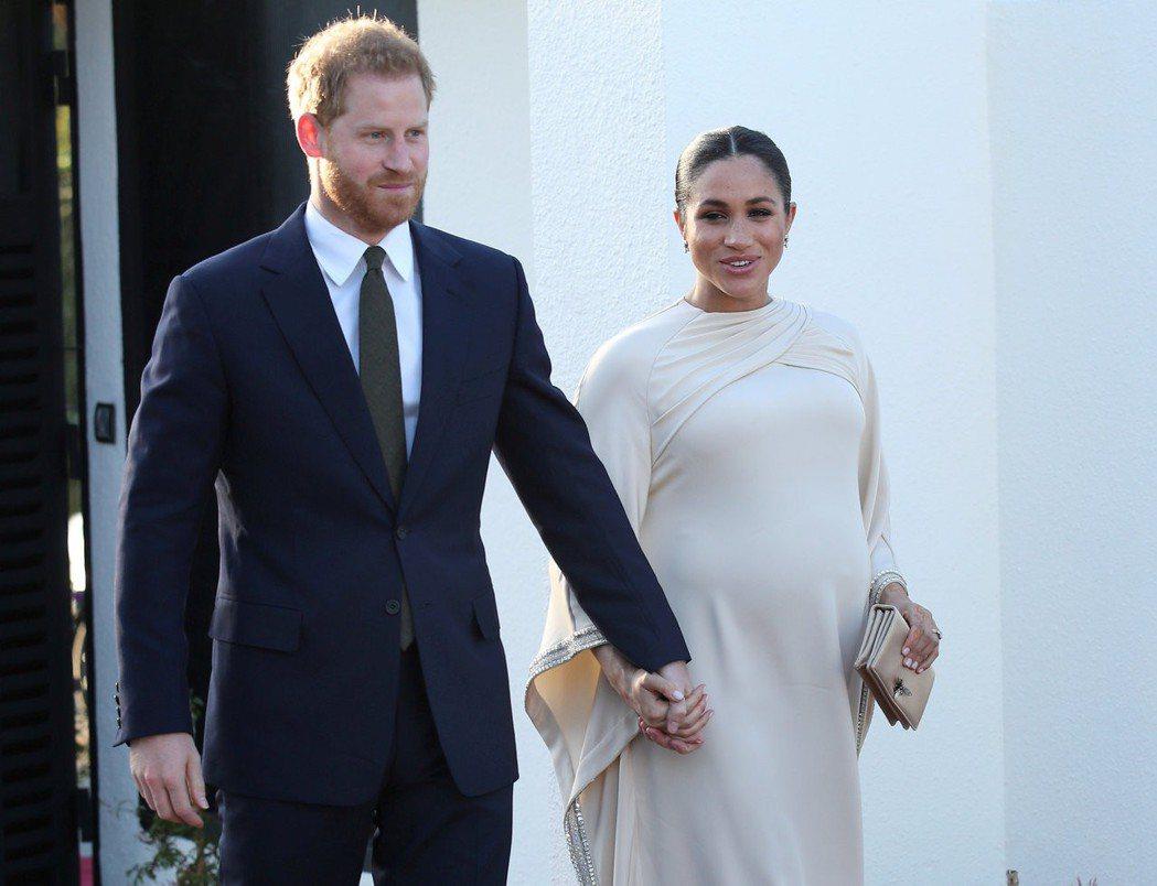 哈利王子與梅根對於第一個孩子誕生,態度很慎重。圖/路透資料照片