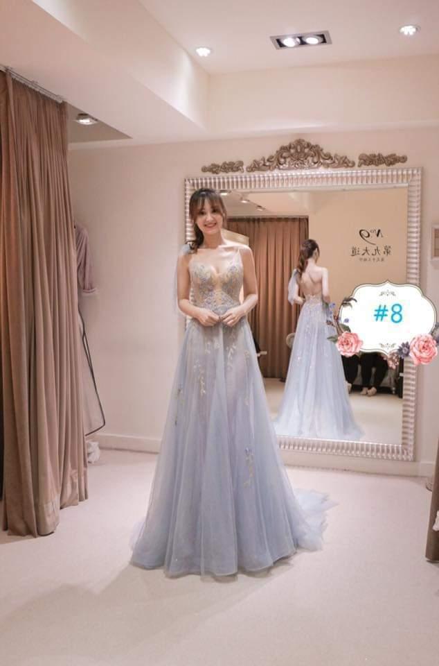 陳家頤也正為婚紗傷腦筋。圖/摘自臉書