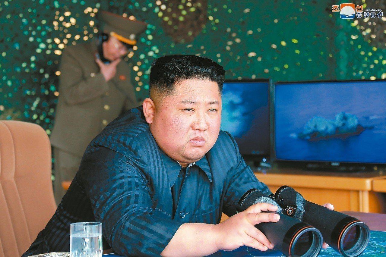 北韓領導人金正恩親自監督北韓的「打擊演習」。 路透