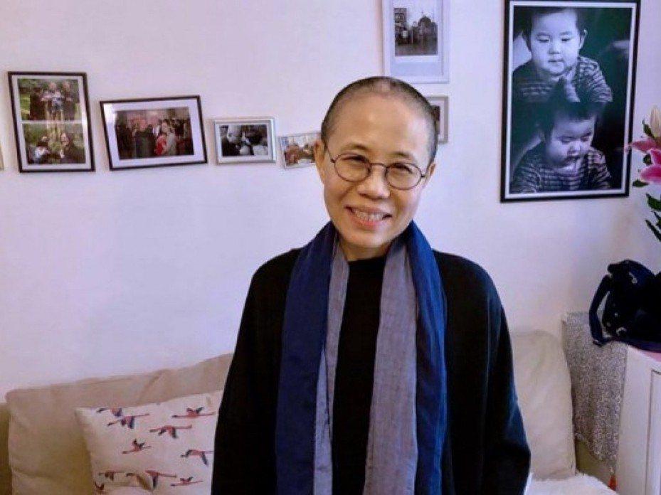 諾貝爾和平獎得主劉曉波遺孀劉霞。法新社