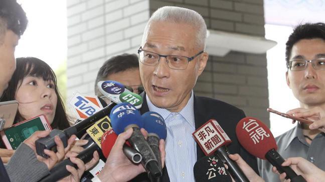 國民黨主席吳敦義。 記者許正宏/攝影