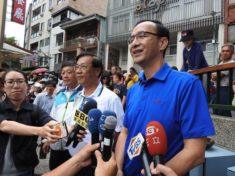 前新北市長朱立倫(右)。 聯合報系資料照/記者賴香珊攝影
