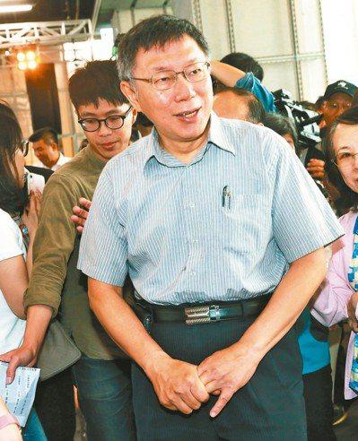 北市長選舉無效之訴,10日一審宣判,柯文哲近日邀幕僚沙盤推演。記者黃義書/攝影
