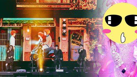 """五月天上周起連續2個周末在香港舉辦「Mayday 2019 Just Rock It!!!""""藍   BLUE""""」演唱會,昨是5月5日「5月天日」,他們加碼邀請開場嘉賓家家合唱「私奔到月球」,趁機又凹..."""