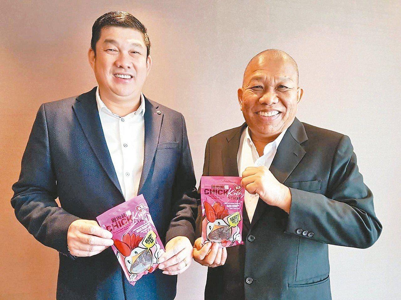 王其祥(右)、王建山(左)兩兄弟經營的其祥,今年營運逆轉勝,目前該公司是新加坡前...