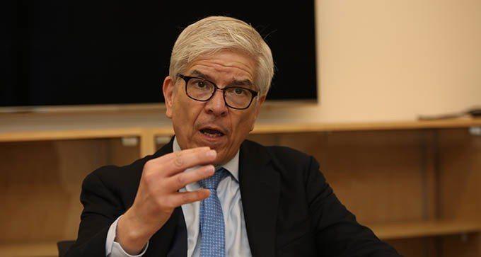 2018年諾貝爾經濟學獎得主羅默。(記者洪群超攝影)