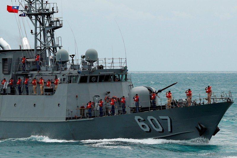 圖為金華暨海安十號演習,攝於5月4日,台北港海巡基地。 圖/路透社