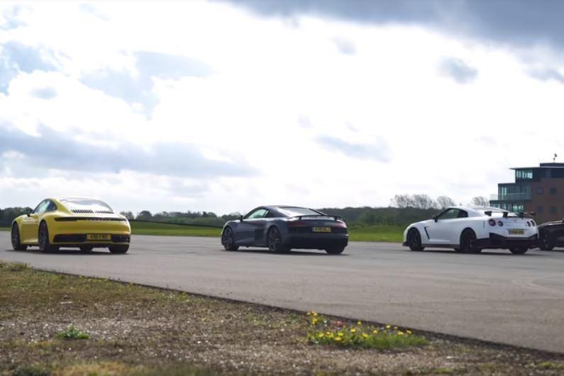 影/爽度大對決 Porsche 911 vs Audi R8 vs GT-R NISMO vs M850i!