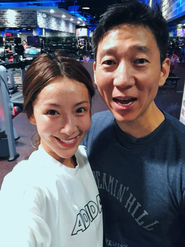 隋棠(左)與老公Tony。圖/摘自臉書
