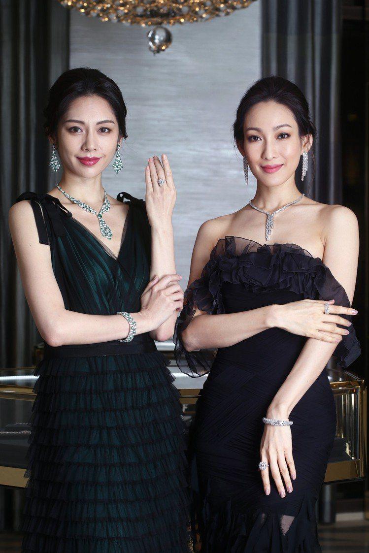 模特兒展演格拉夫舉辦高級珠寶巡迴展覽「Les Extraordinaires」,...