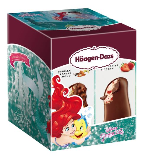 全聯5/10獨家上市哈根達斯迪士尼公主款雪糕六入組/80ml*6入,售價540元...