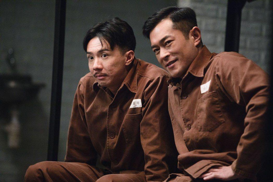 張繼聰(左)、古天樂所演的「P風暴」5月10日上映。圖/華映提供