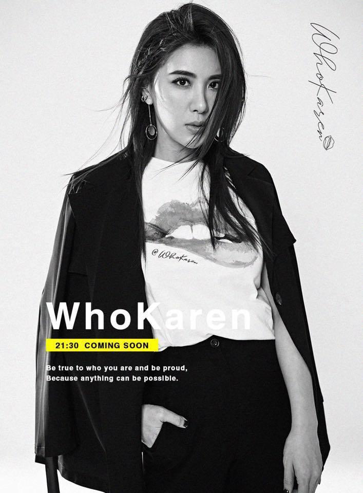 小禎推出個人網購品牌「WhoKaren」。圖/摘自臉書