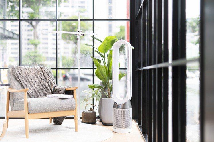 Dyson TP04智慧空氣清淨機,維持空氣品質還能吹送清淨涼風。圖/恆隆行提供