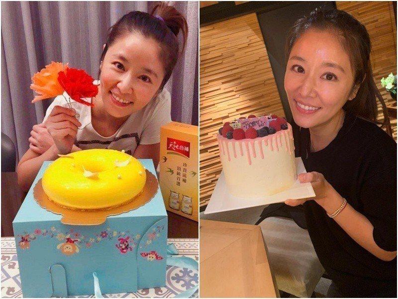 林心如收到母親節蛋糕,女兒反應超可愛。圖/摘自臉書