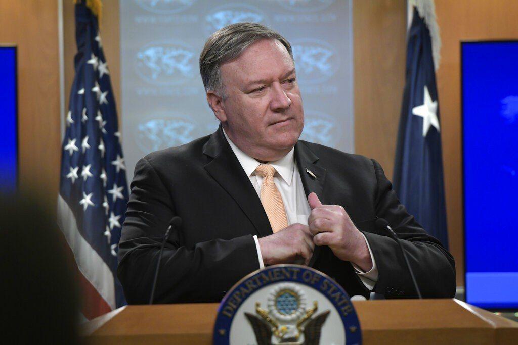 美國國務卿蓬佩奧。 美聯社