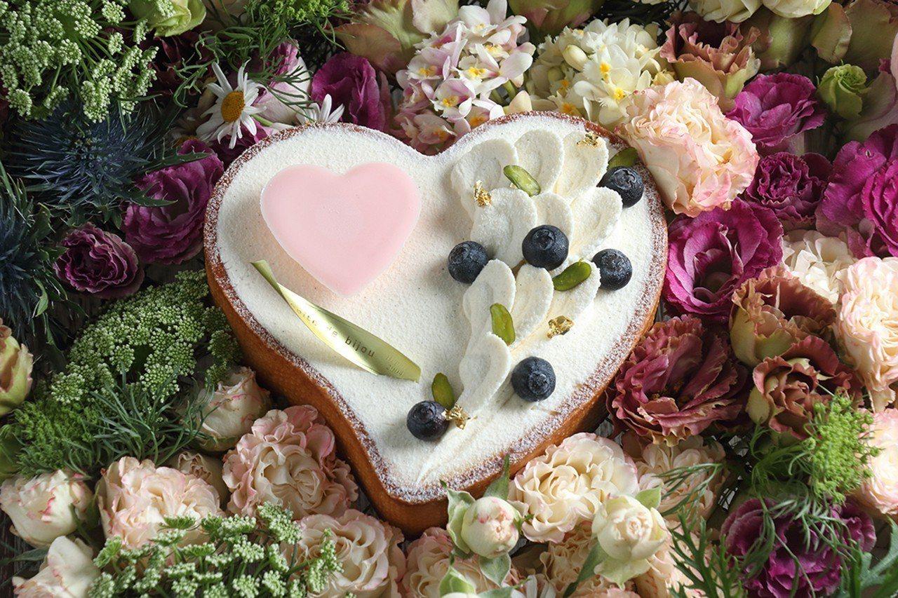 「藍星之心」售價850元。圖/珠寶盒法式點心坊提供