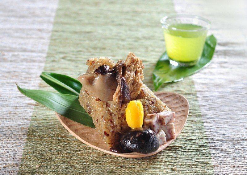紅蔾養生素粽。 台北凱撒/提供