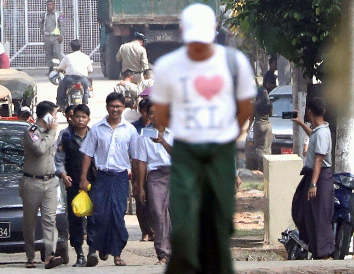 《路透社》報導,瓦隆與喬索歐之所以重獲自由,是因為緬甸總統溫敏(Win Myin...