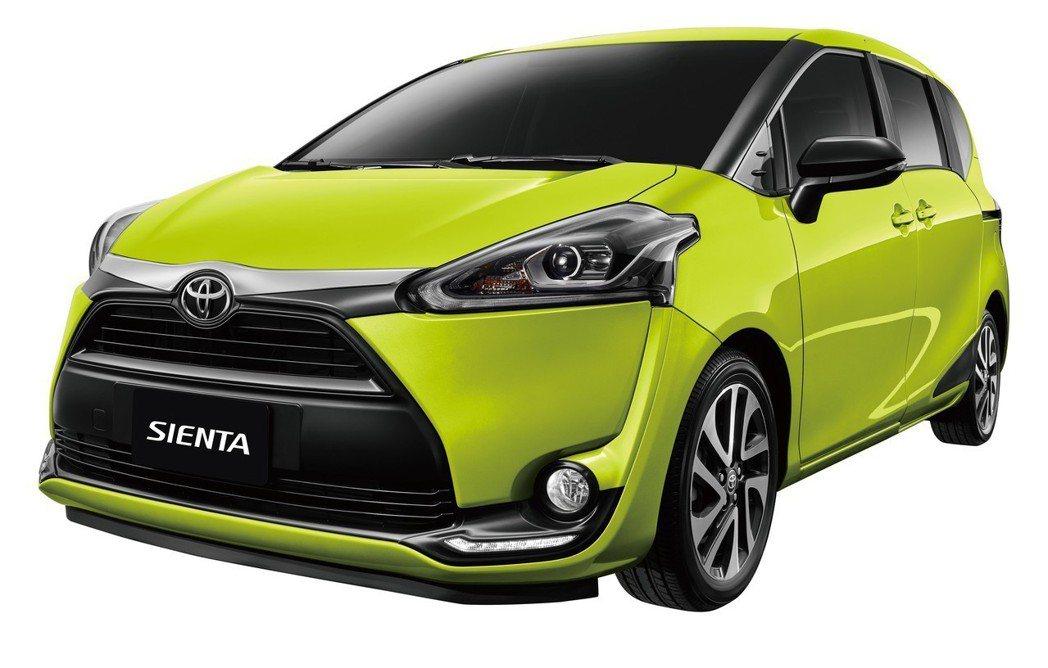 TOYOTA SIENTA外觀及安全同步升級。 圖/和泰汽車提供